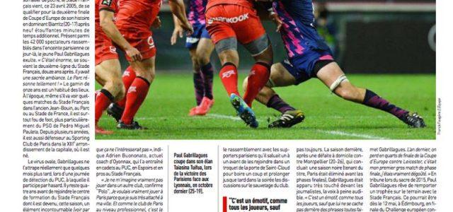 Article publié dans L'Equipe du 26-04-2017.