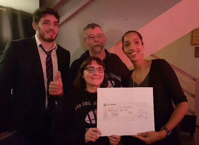 Hier soir, nous avons eu le grand plaisir de remettre un chèque de 600 € à Marysa Baridji, Responsable de l'Association 1 Maillot pour la vie, en présence de Paul […]